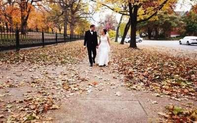Jenna and David wed on a crisp, fall day